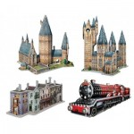 Wrebbit-3D-Set-Harry-Potter 4 Puzzles 3D - Set Harry Potter