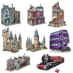 Wrebbit-Set-Harry-Potter-4 8 Puzzles 3D - Set Harry Potter (TM)