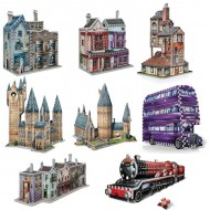 Wrebbit-Set-Harry-Potter-4 8 Puzzles 3D - Set Harry Potter
