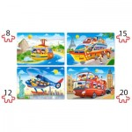 Puzzle  Castorland-041015 Pièces XXL - Travel The World
