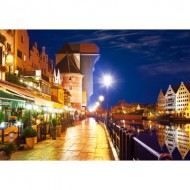 Puzzle  Castorland-103379 Gdansk Waterfront at Night