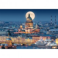 Puzzle  Castorland-103447 Fullmoon over St. Isaac's Cathedral