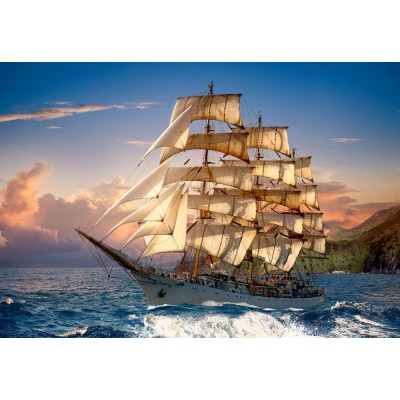 Puzzle Castorland-151431 Sailing At Sunset