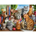 Puzzle  Castorland-200726 House of Cats