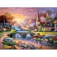 Puzzle  Castorland-300419 Peaceful Reflections