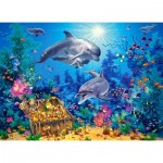 Puzzle  Castorland-30149 Dolphin Family