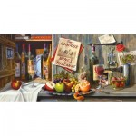 Puzzle  Castorland-400324 Vintage Red and Italian Treasures