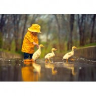 Puzzle  Castorland-52264 Rainy Day Friends
