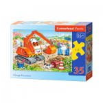Puzzle  Castorland-B-035113 Pelle Mécanique Orange