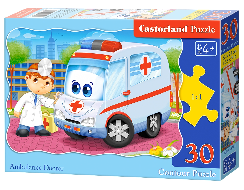 m decin de l 39 ambulance 30 teile castorland puzzle acheter en ligne. Black Bedroom Furniture Sets. Home Design Ideas