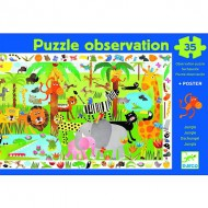 Puzzle  Djeco-07590 La Jungle