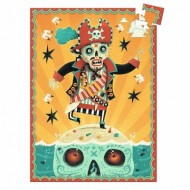 Djeco-07670 Mini Puzzle - Captain Bones