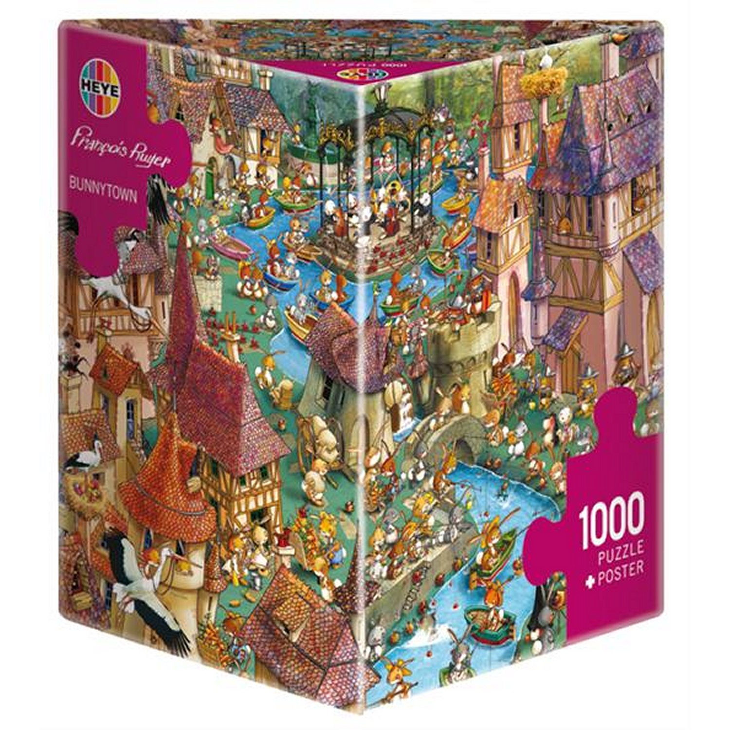 bunnytown francois ruyer 1000 pi ces puzzle format paysage heye verlag puzzle acheter en ligne. Black Bedroom Furniture Sets. Home Design Ideas