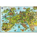 Puzzle  Heye-08854 Degano : l'Europe des dragons unis