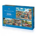 Gibsons-G5037 4 Puzzles - Trevor Mitchell : The Country Bus