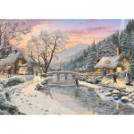 Puzzle  Gibsons-G6212 Thomas Kinkade - Winter Evening Dusk