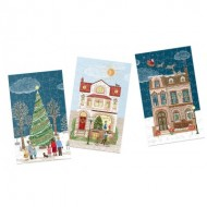 Gibsons-G9501 12 Puzzles 80 Pièces - Christmas Street
