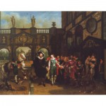 Puzzle  PuzzelMan-064 Collection Rijksmuseum Amsterdam - Philippe Van Bree : The Farewell (L'Adieu)