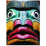 Puzzle  Eurographics-6000-0243 Totems Comox Valley, Campbell River, Colombie-Britannique