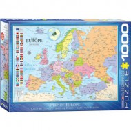 Puzzle  Eurographics-6000-0789 Carte d'Europe