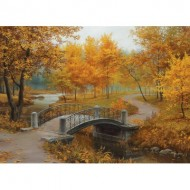 Puzzle  Eurographics-6000-0979 Autumn in an Old Park by Eugene Lushpin