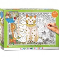 Puzzle  Eurographics-6055-0888 Color Me XXL - Magical Cat