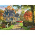 Eurographics-8300-0978 Pièces XXL - Familiy Puzzle: Dominic Davison - The Blue Country House