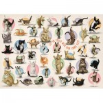 Eurographics-8300-0991 Pièces XXL - Familiy Puzzle: Yoga Kittens
