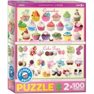Eurographics-8902-0623 2 Puzzles - Cupcakes & Cake Pops