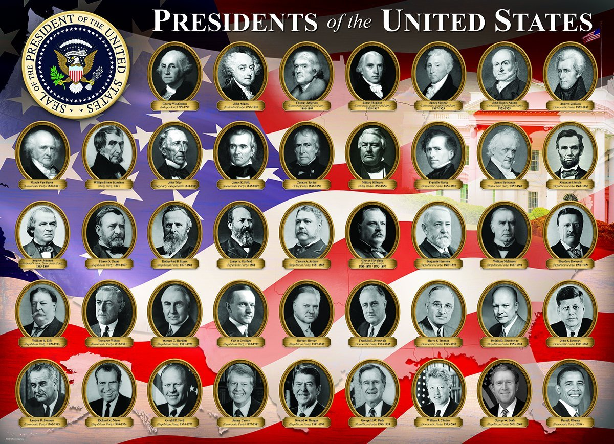 Pi ces xxl pr sidents des etats unis 300 teile for Pictures of all presidents of the united states in order