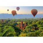 Puzzle  Schmidt-Spiele-58956 Hot Air Balloons Mandalay Myanmar