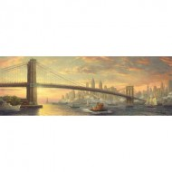 Puzzle  Schmidt-Spiele-59476 Thomas Kinkade - Bridge, New York