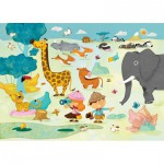Puzzle  Puzzle-Michele-Wilson-W201-24 Huette : Safari photo