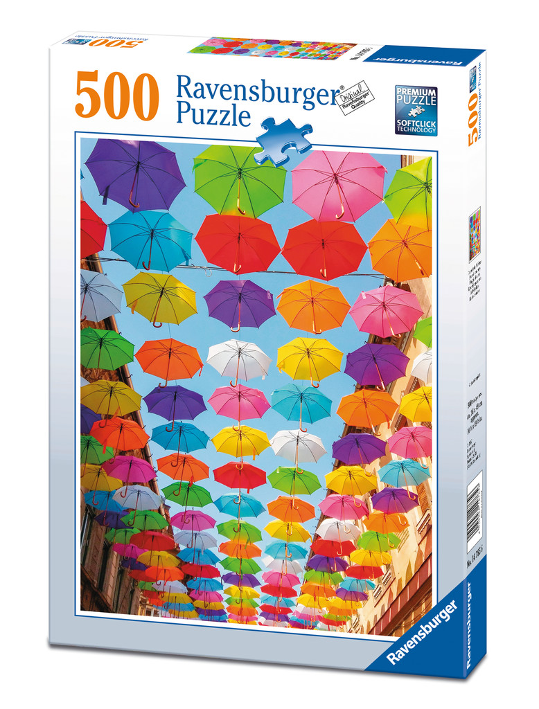 parapluies color s 500 teile ravensburger puzzle acheter en ligne. Black Bedroom Furniture Sets. Home Design Ideas
