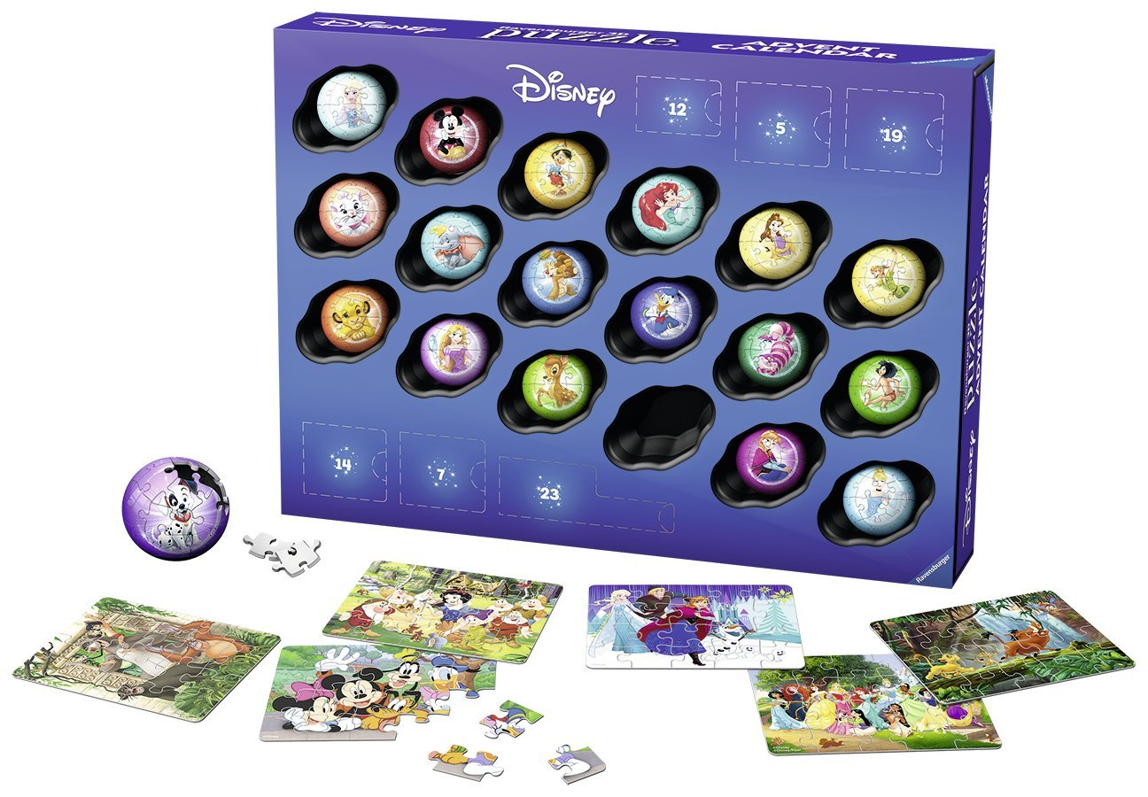 puzzle 3d calendrier de l 39 avent disney princess 27. Black Bedroom Furniture Sets. Home Design Ideas