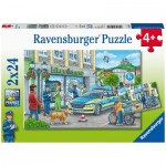 Ravensburger-05031 2 Puzzles - Police
