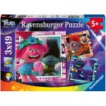 Ravensburger-05081 3 Puzzles - DreamWorks - Trolls World Tour