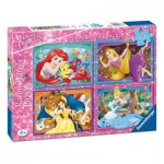 Ravensburger-06857 4 Puzzles - Disney Princesses
