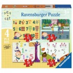 Ravensburger-06995 4 Puzzles - Peg + Cat
