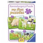 Ravensburger-07077 9 Puzzles - My First Puzzles