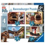 Ravensburger-07139 4 Puzzles - The Secret Life of Pets