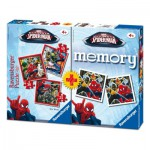 Ravensburger-07359 3 Puzzles Spiderman + Memory