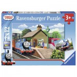 Ravensburger-07583 2 Puzzles - Thomas le Train