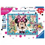 Ravensburger-07619 2 Puzzles - Minnie