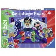 Ravensburger-07824 2 Puzzles - Pyjamasques