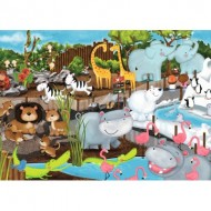 Puzzle  Ravensburger-08778 Journée au Zoo
