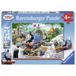 Ravensburger-09043 2 Puzzles - Thomas le Train