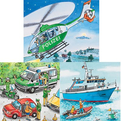 Puzzle Ravensburger-09221 Intervention de la police