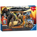 Puzzle  Ravensburger-09258 Dragons: Le Chevalier Dragon