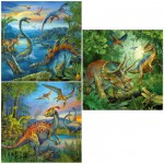 Ravensburger-09317 3 Puzzles - Fascination des Dinosaures